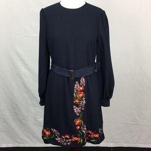 Ted Baker Navy Siliia Kirstenbosch Wrap Dress